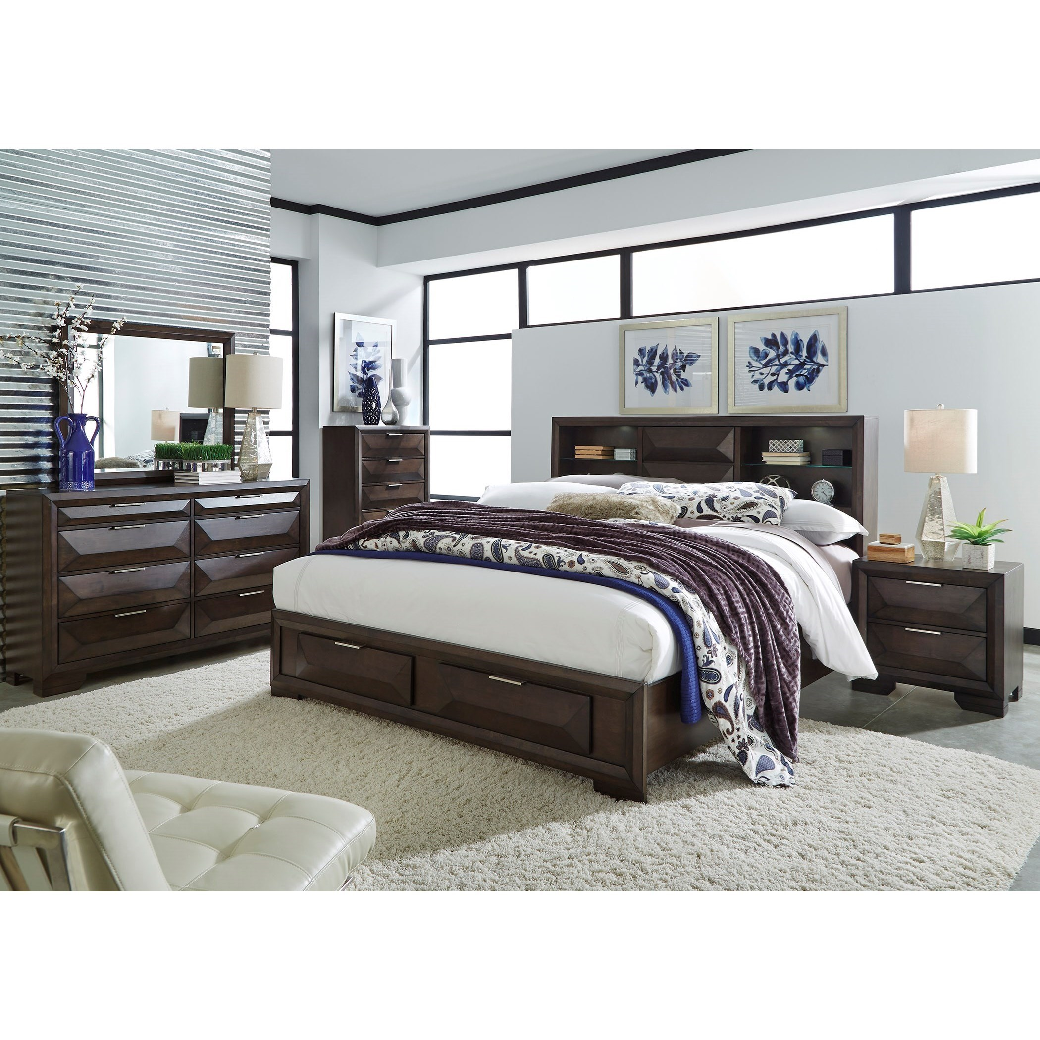 Newland Queen Bookcase Bed