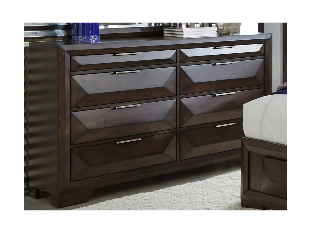 Nolan Contemporary Dresser With 8 Drawers