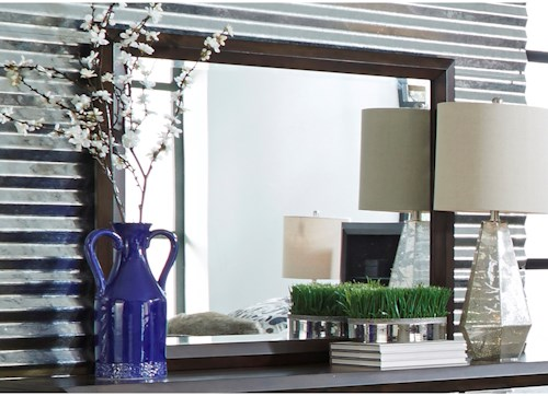 Liberty Furniture Newland Canted Dresser Mirror with Wide Frame