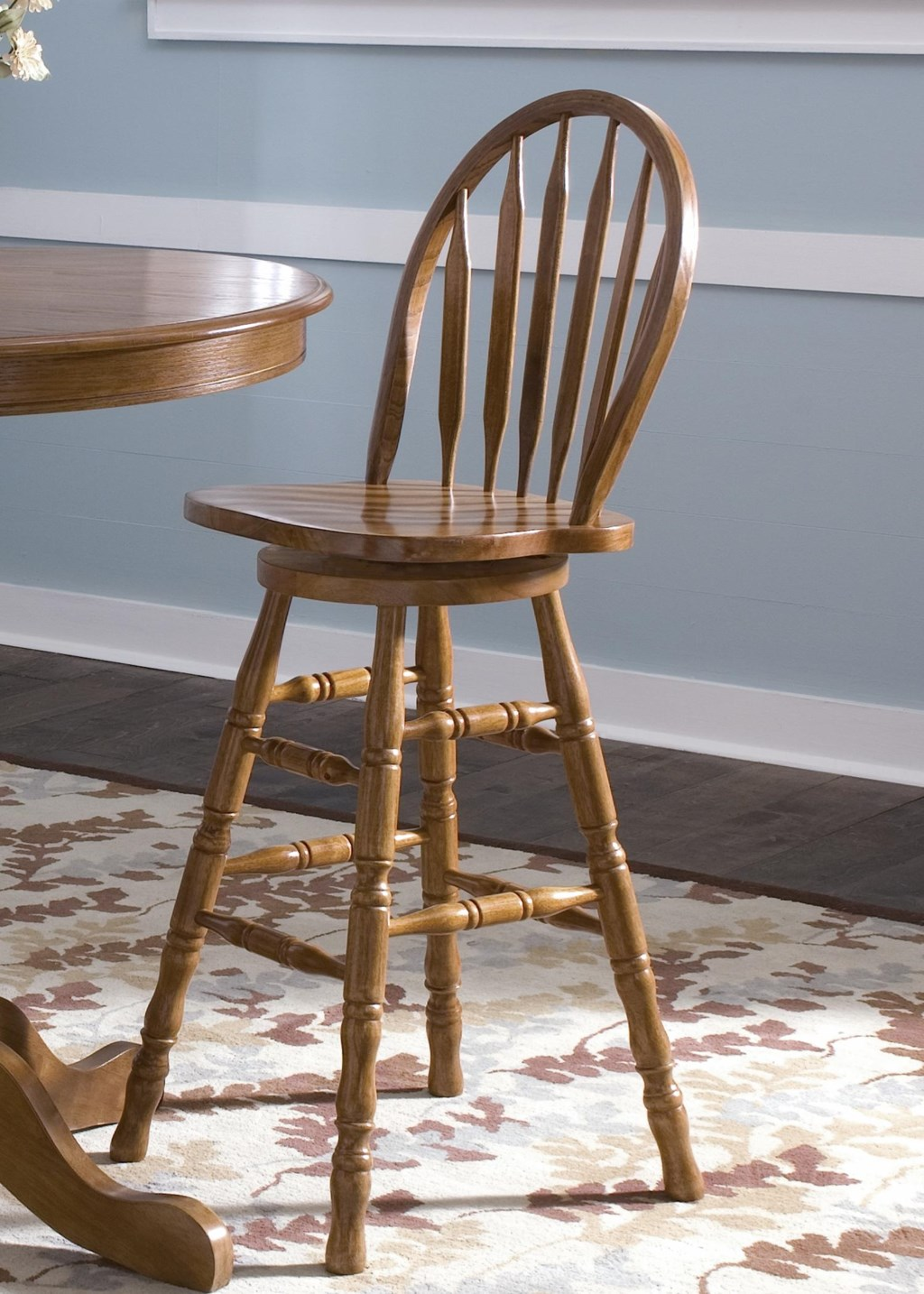 Liberty Furniture Nostalgia Mission 30 Inch Arrow Back Barstool