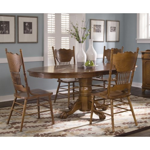 Liberty Furniture Nostalgia  Single Pedestal Table and Side Chair Set