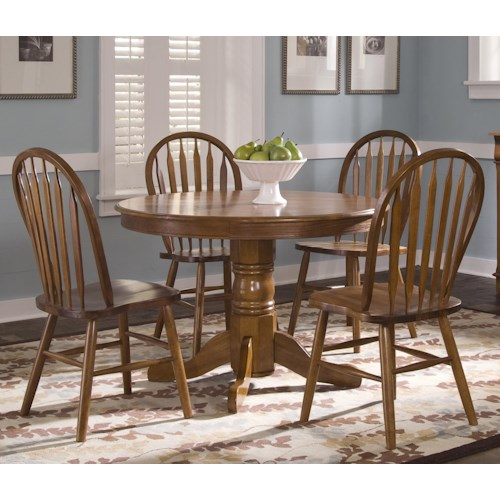 Liberty furniture nostalgia five piece dining set lindy for Furniture 500 companies