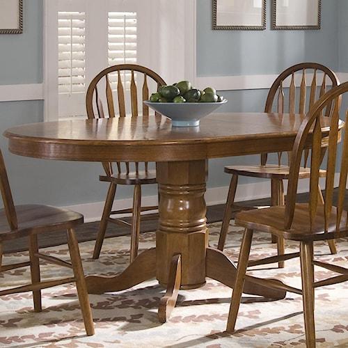 Liberty Furniture Nostalgia  Oval Pedestal Dinner Table