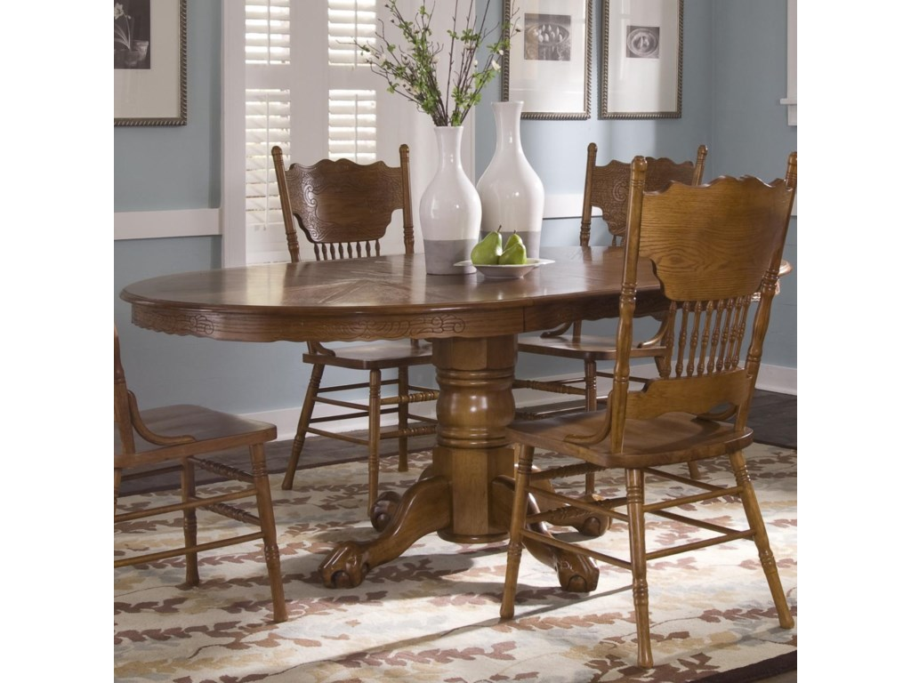Liberty Furniture Nostalgia Oval Pedestal Table