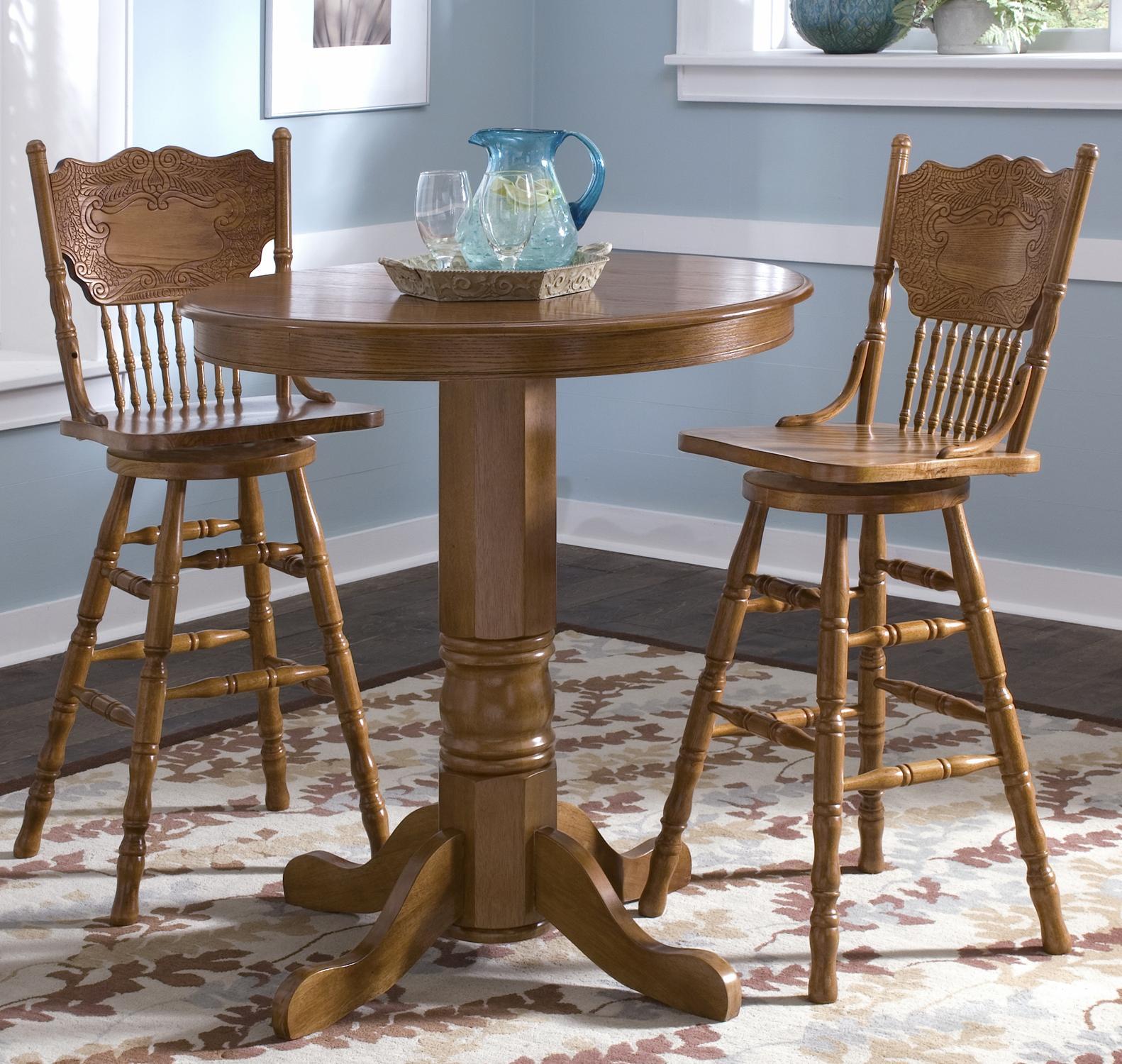 Superieur Liberty Furniture Nostalgia 3 Piece Round Pub Table Dining Set