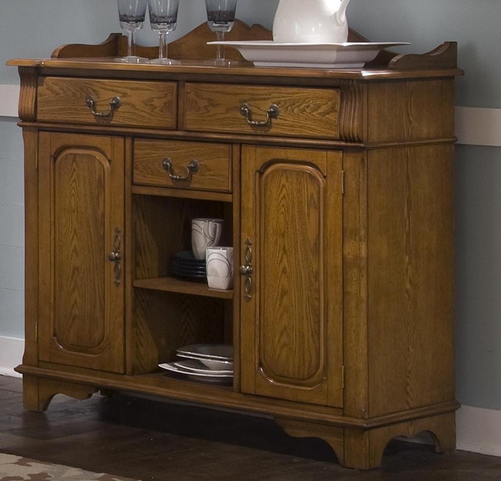 liberty furniture nostalgia dining room serving table - novello