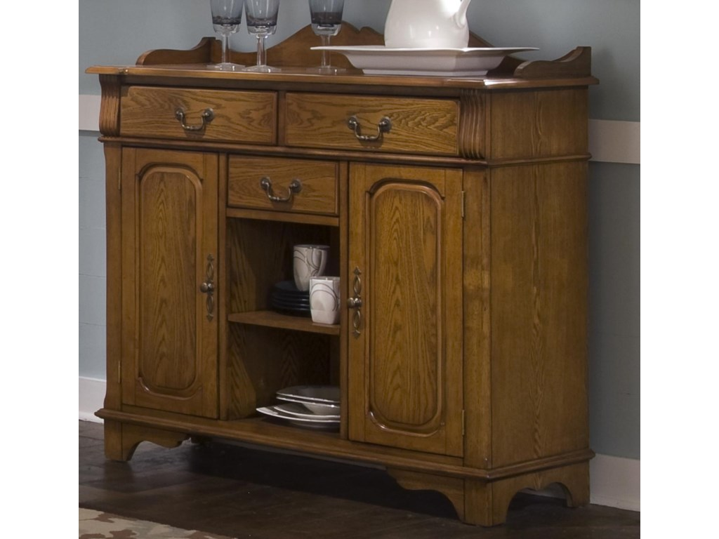 Liberty Furniture Nostalgia Dining Room Serving Table ...