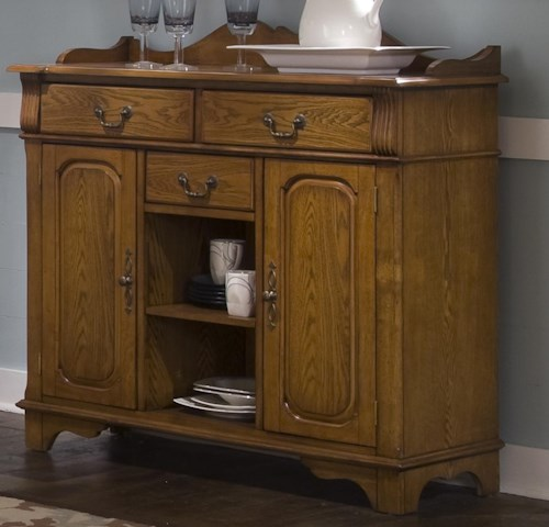 Liberty Furniture Nostalgia Dining Room Serving Table | Wayside ...