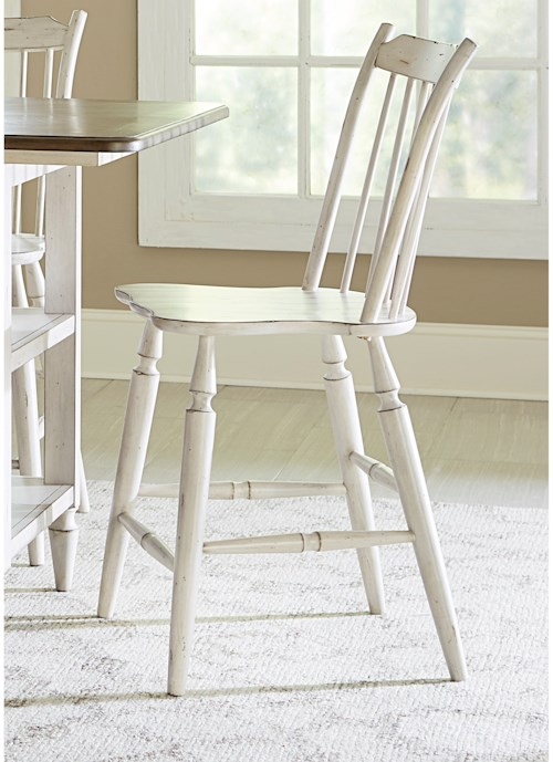 Liberty Furniture Oak Hill Dining Windsor Back Counter Height Chair