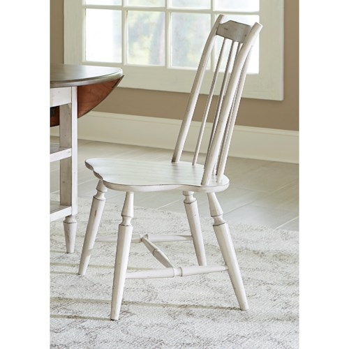 Liberty Furniture Oak Hill Dining Windsor Back Side Chair