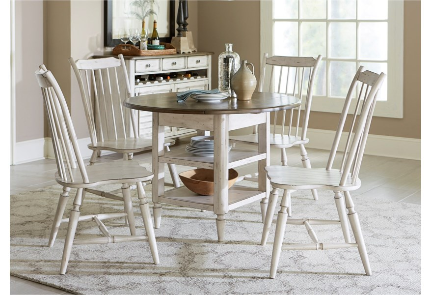 Silver Dining Table And Chairs, Vendor 5349 Oak Hill Dining 517 Cd 5dls 5 Piece Drop Leaf Table Set Becker Furniture Dining 5 Piece Sets