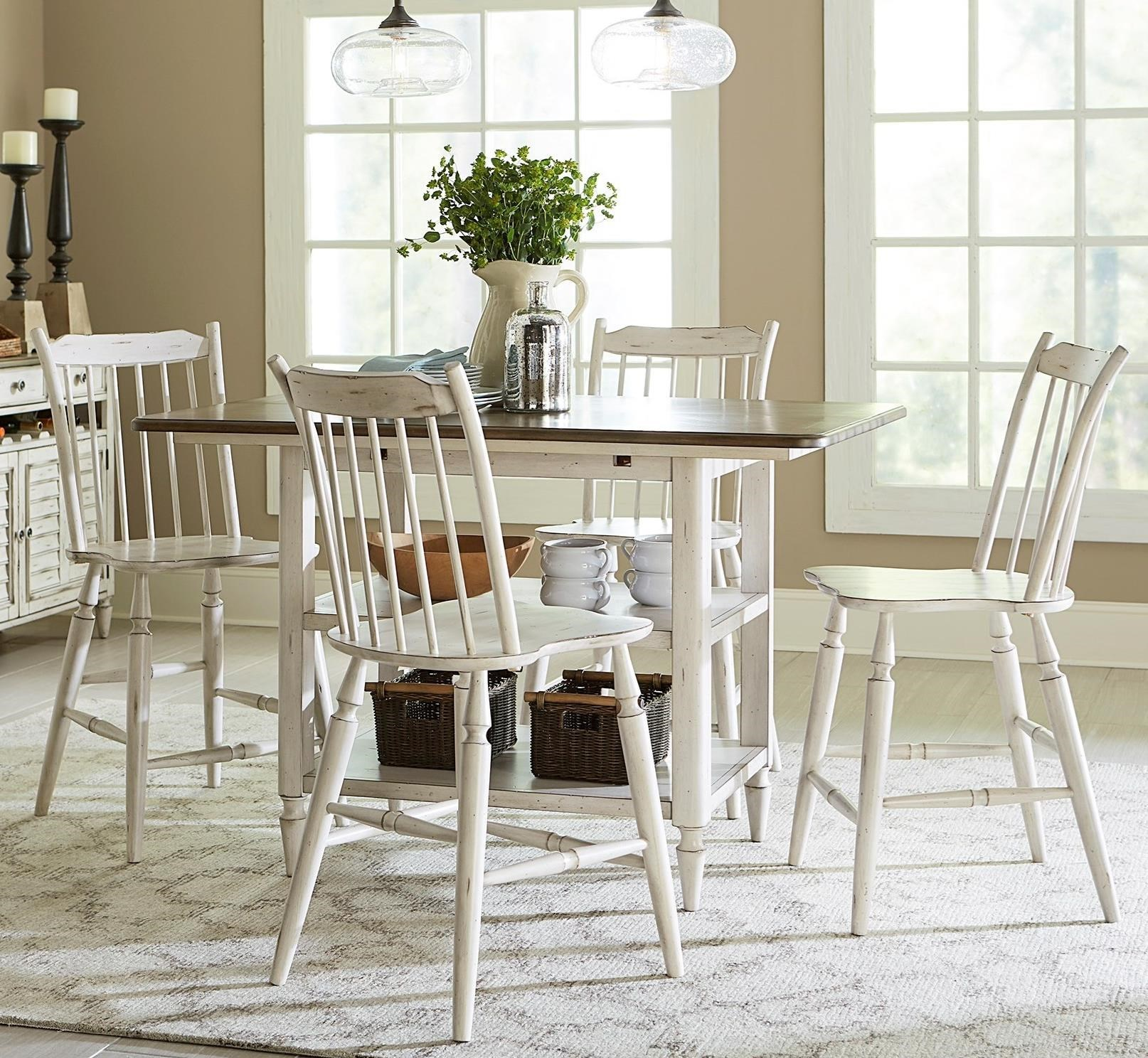 Liberty Furniture Oak Hill Dining 5 Piece Gathering Table and Counter Height Chair Set  sc 1 st  Royal Furniture & Liberty Furniture Oak Hill Dining 5 Piece Gathering Table and ...