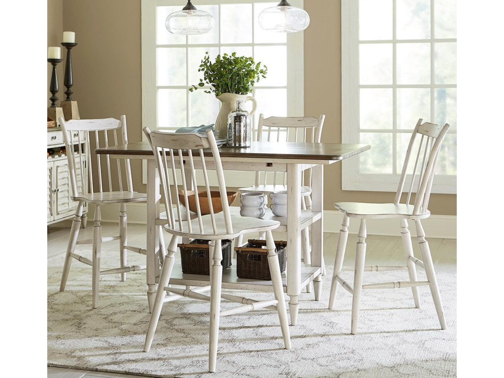 Liberty Furniture Oak Hill Dining5 Piece Gathering Table Set