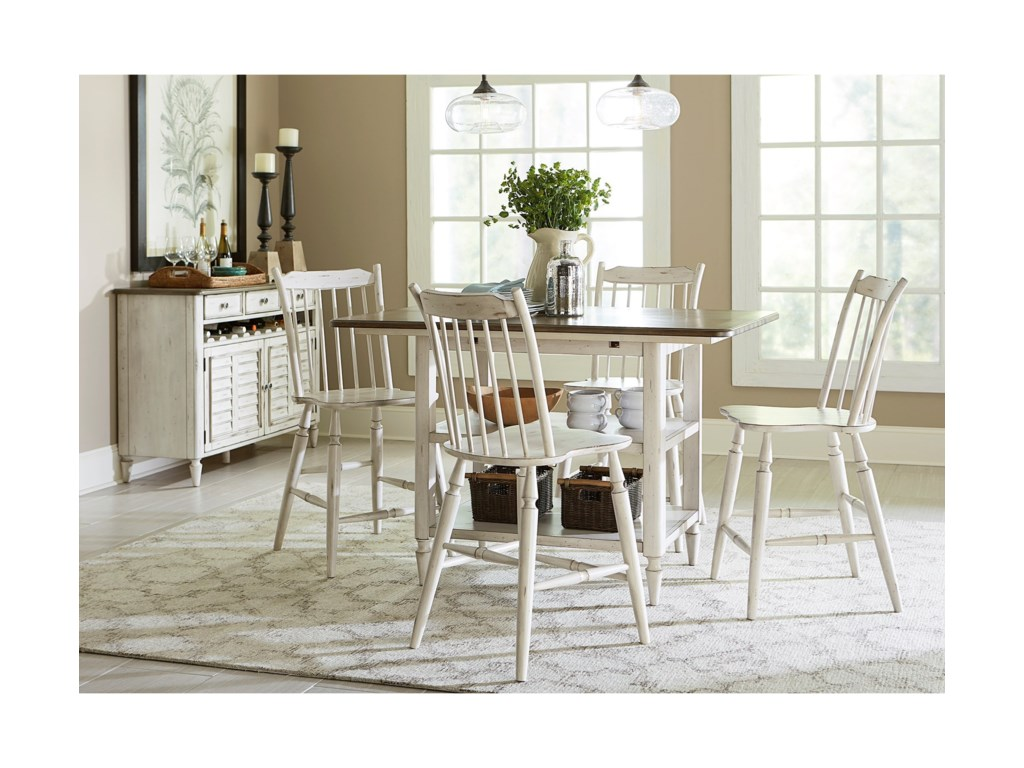 Liberty Furniture Oak Hill DiningCenter Island Table