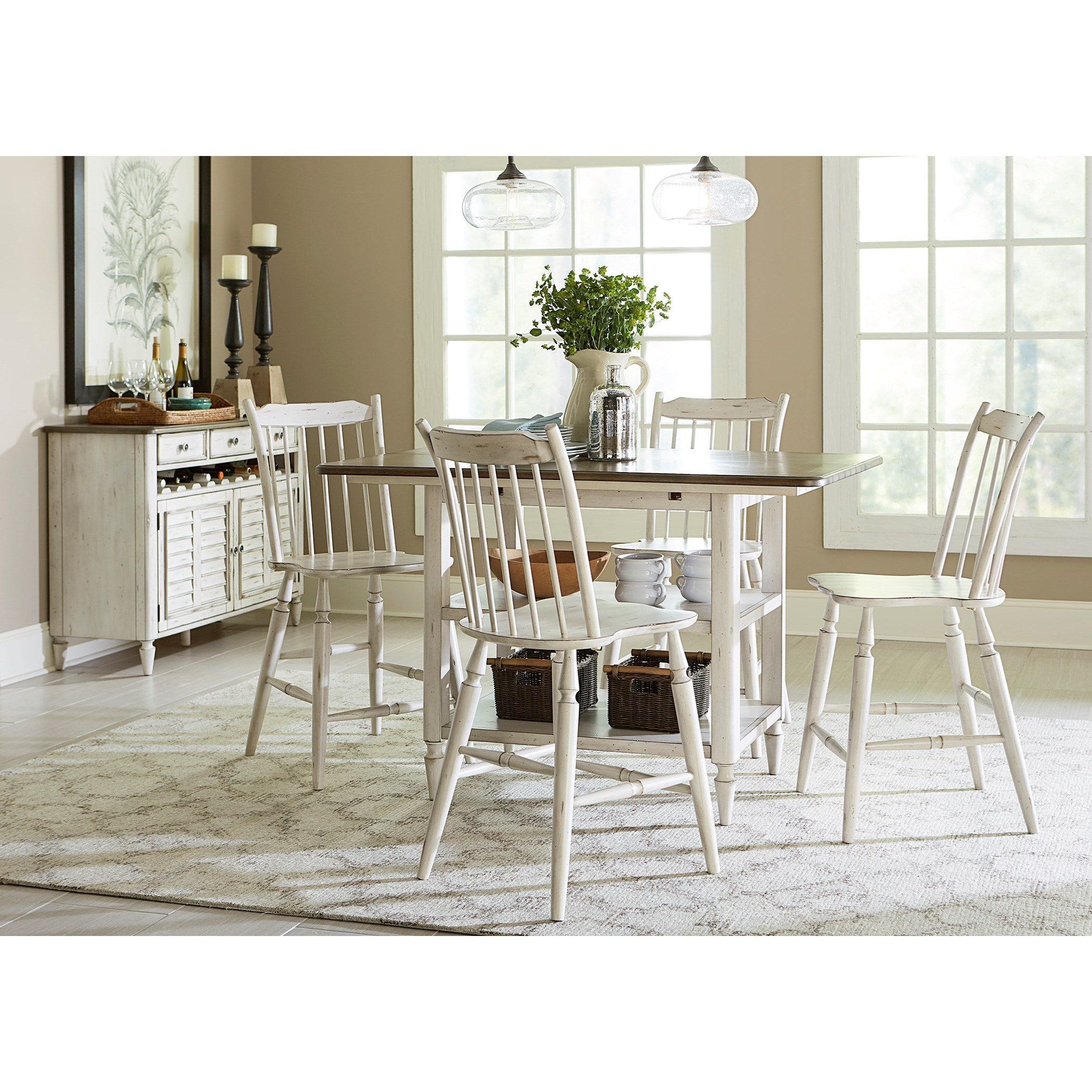 Attractive Liberty Furniture Oak Hill Dining Dining Server With Bottle Storage