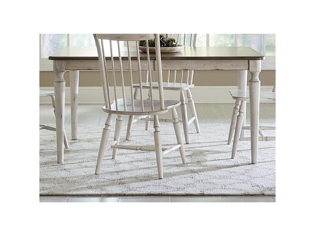 Liberty Furniture Oak Hill DiningRectangular Leg Table