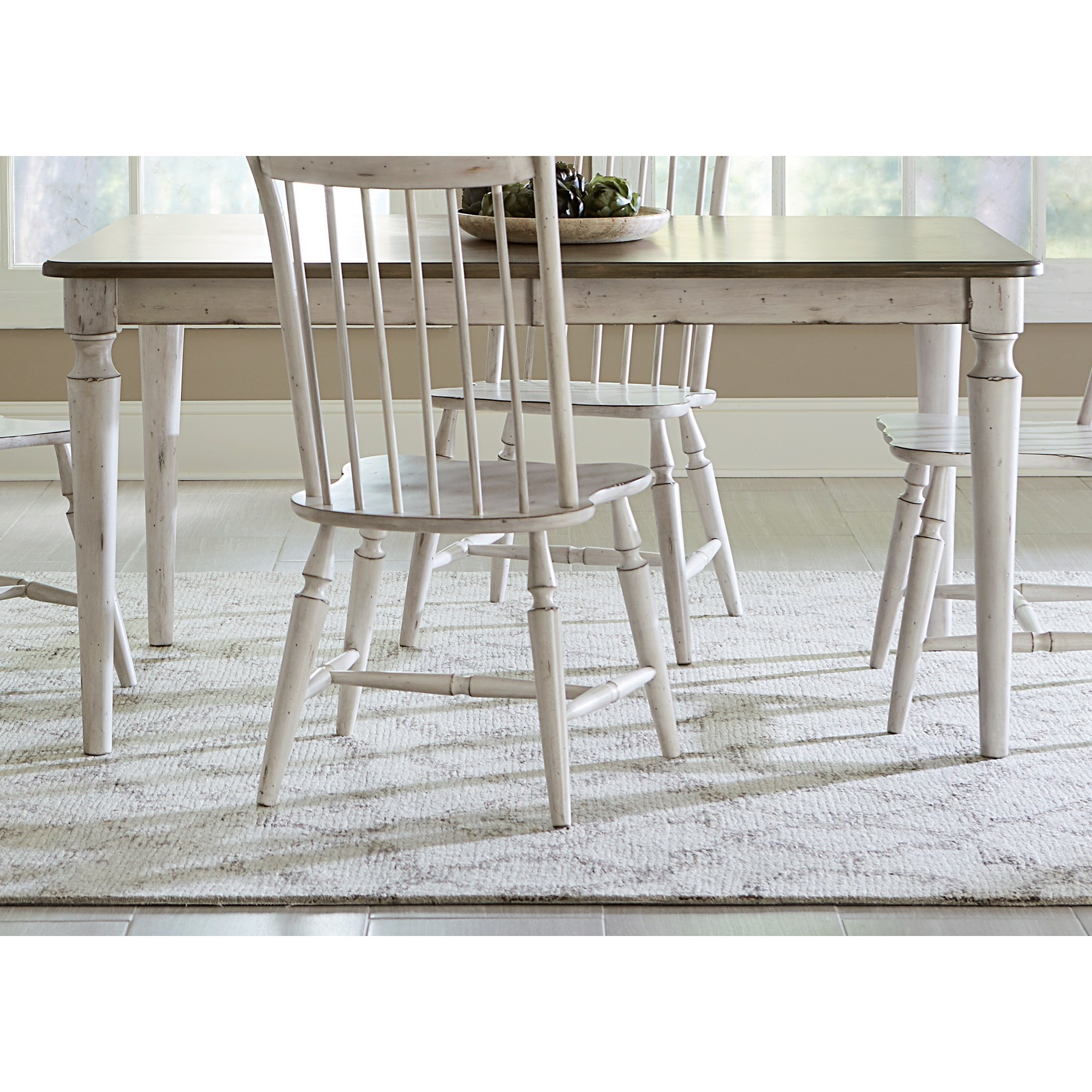 Liberty Furniture Oak Hill Dining Rectangular Leg Table With Leaf    Miskelly Furniture   Dining Room Table