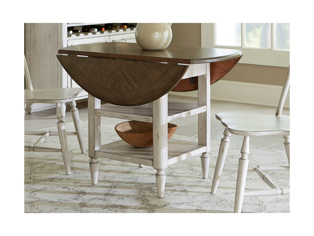 Oak Hill Dining Drop Leaf Table with Storage by Liberty Furniture at Rooms  for Less