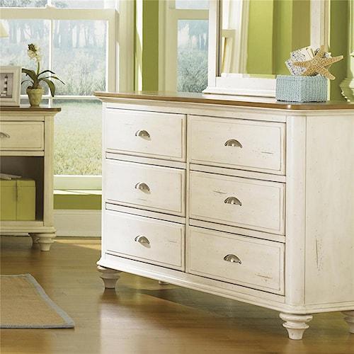 Liberty Furniture Ocean Isle  Youth 6 Drawer Dresser