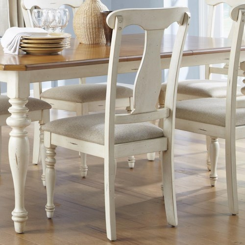 Liberty Furniture Ocean Isle  Splat Back Dining Side Chair with Upholstered Seat