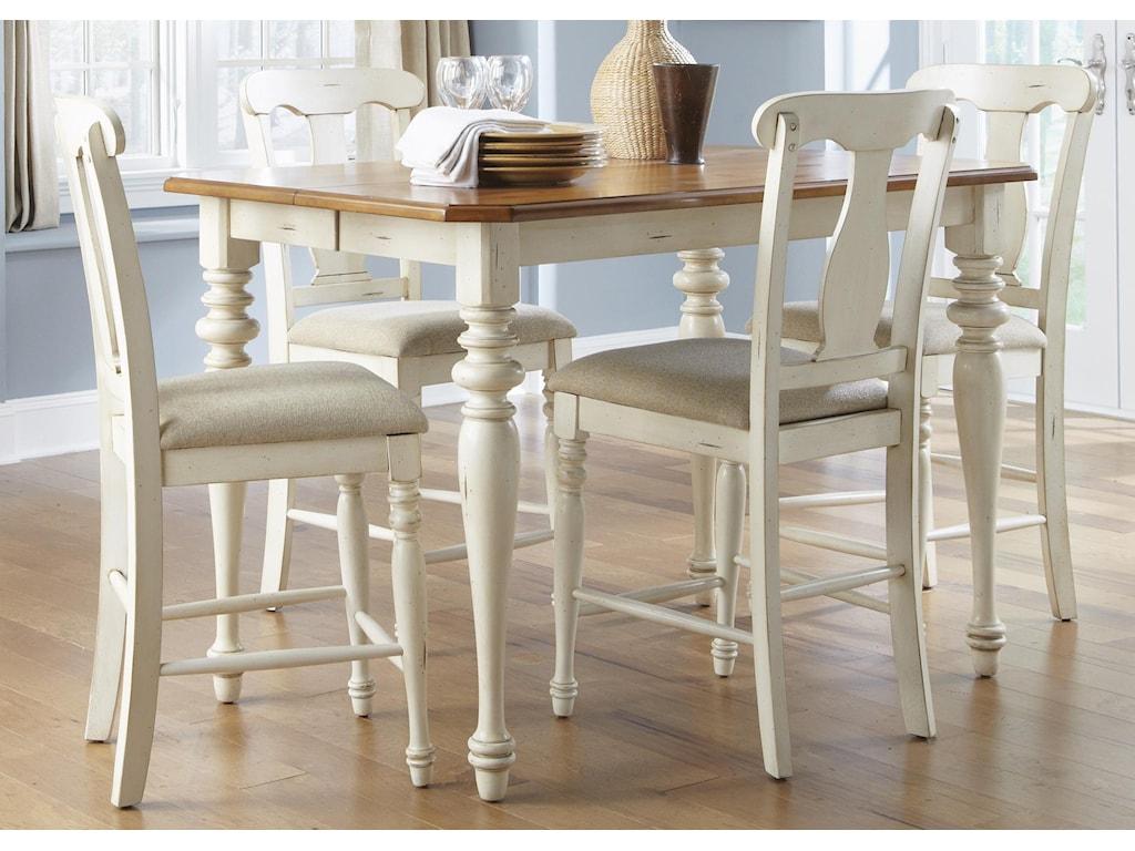 Liberty Furniture Ocean Isle 5-Piece Gathering Height Dining Set
