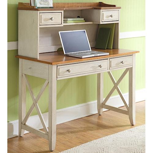Liberty Furniture Ocean Isle  Writing Desk and Hutch Set
