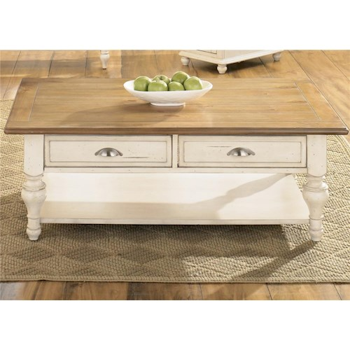 Liberty Furniture Ocean Isle  Rectangular Cocktail Table