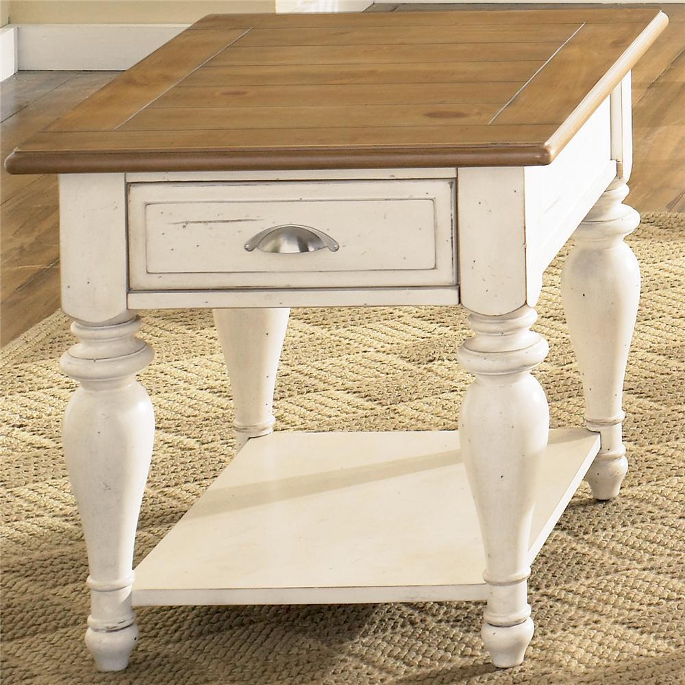 Liberty Furniture Ocean Isle Rectangular End Table ...