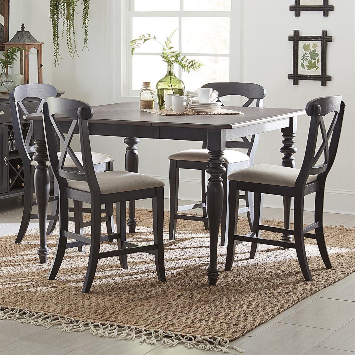 Cottage Style 5-Piece Gathering Table Set
