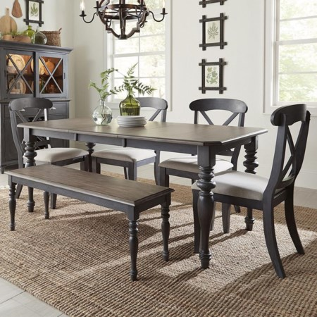 6-Piece Rectangular Table Set