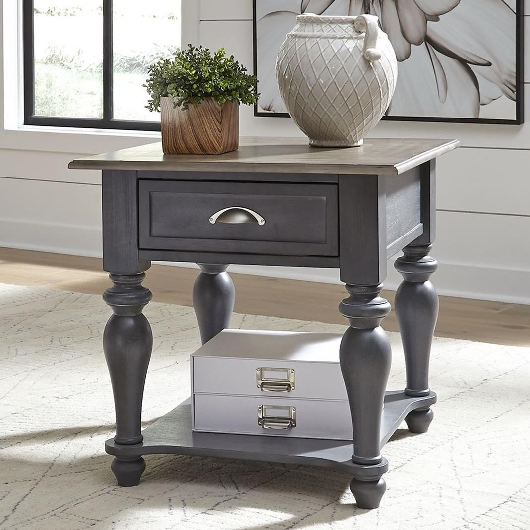 Cottage Style Drawer End Table