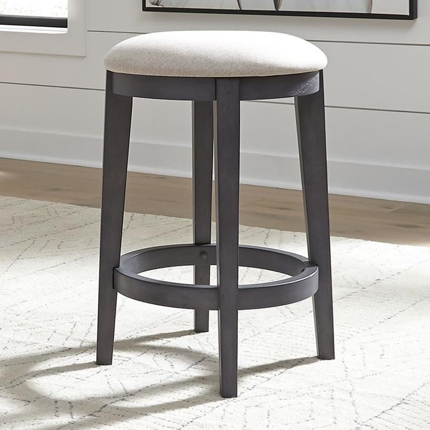 Cottage Style Upholstered Console Stool