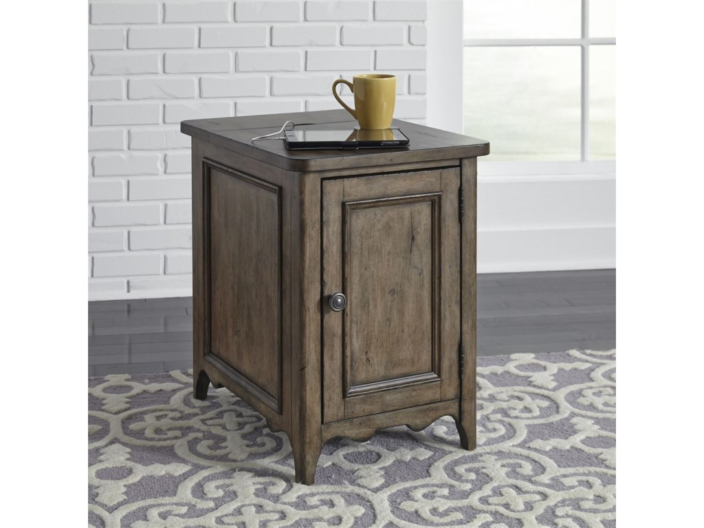 Liberty Furniture Parisian MarketplaceDoor Chairside Table with Charging Station