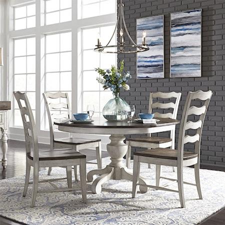 5-Piece Pedestal Table Set