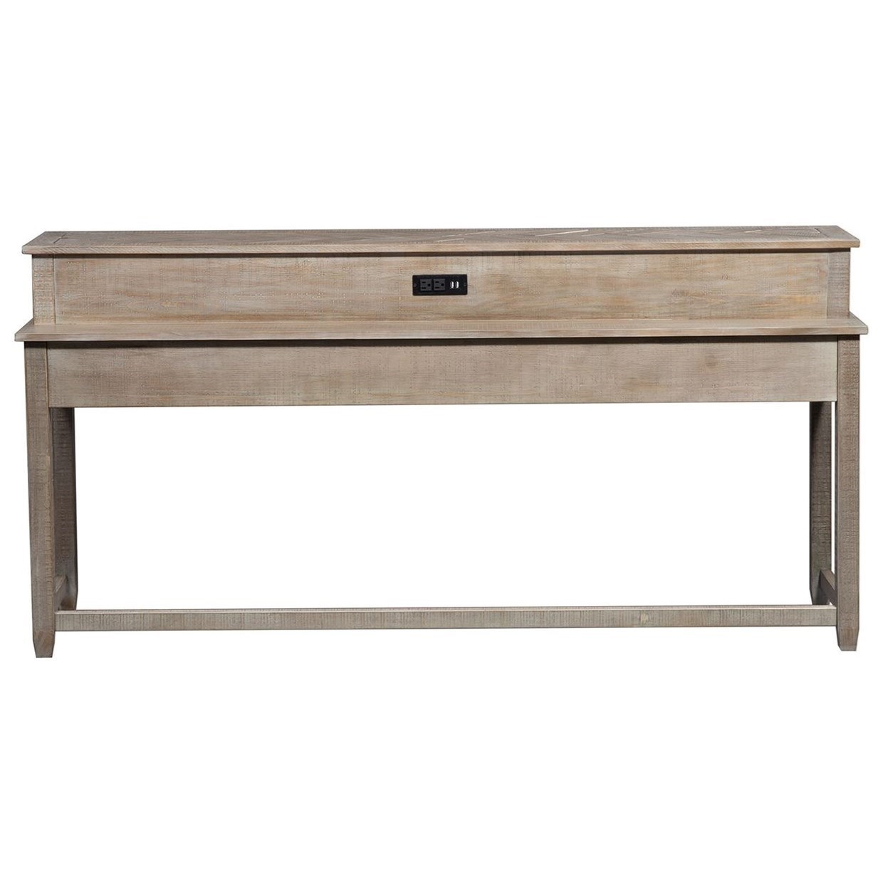 Rustic Console Bar Table with Charging Ports