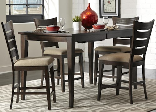 Liberty Furniture Pebble Creek 5 Piece Gathering Table Set