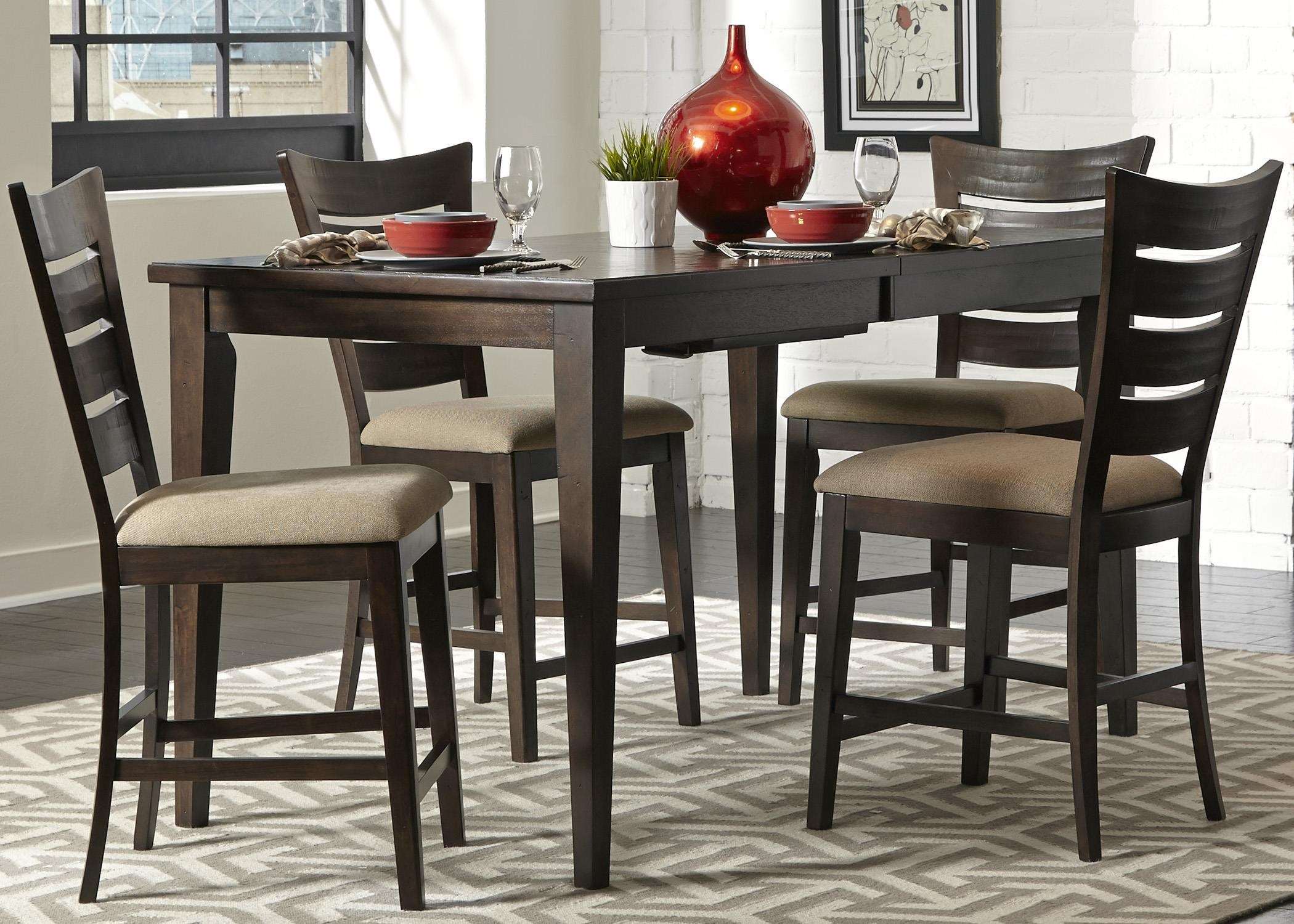 Liberty Furniture Pebble Creek 5 Piece Gathering Table Set
