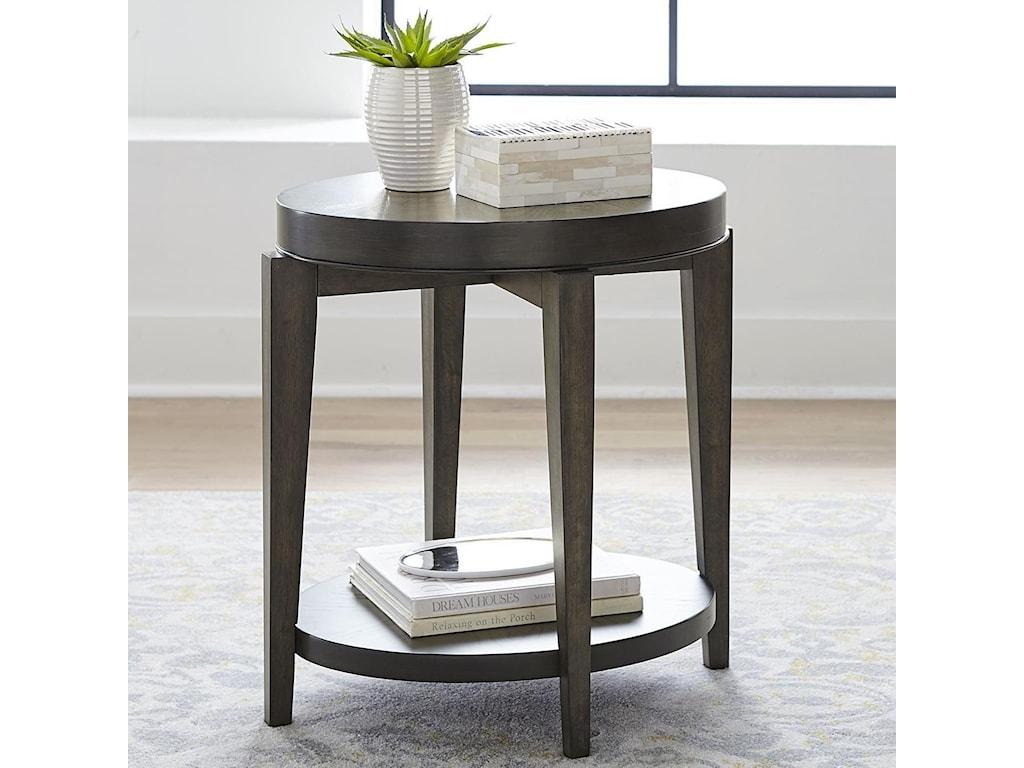 Liberty Furniture PentonOval Chairside Table
