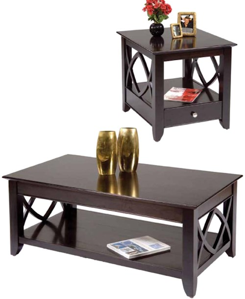 Liberty Furniture Piedmont 3 Piece Occasional Set with Cocktail Table and Two End Tables
