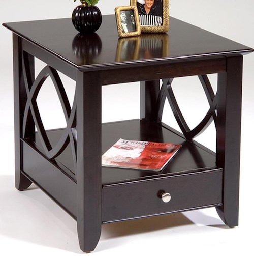 Liberty Furniture Piedmont End Table with Bottom Shelf and Drawer