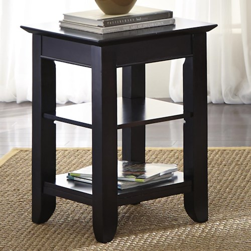 Liberty Furniture Piedmont Chair Side Table with 2 Shelves