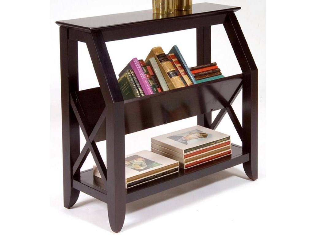 Liberty Furniture Piedmont Bookshelf With Center Magazine Rack And Bottom  Shelf  Novello Home Furnishings  Open Bookcase