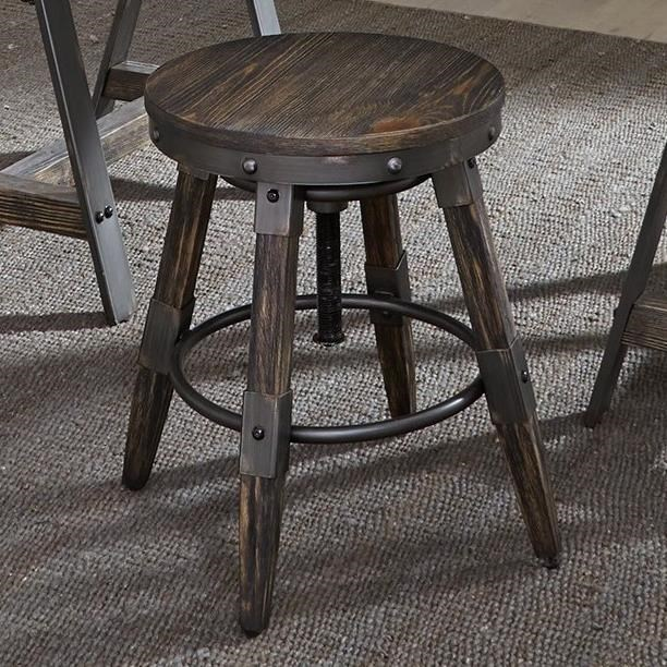 industrial adjustable stool industrial french liberty furniture pineville industrial adjustable height bar stool with swiveling seat