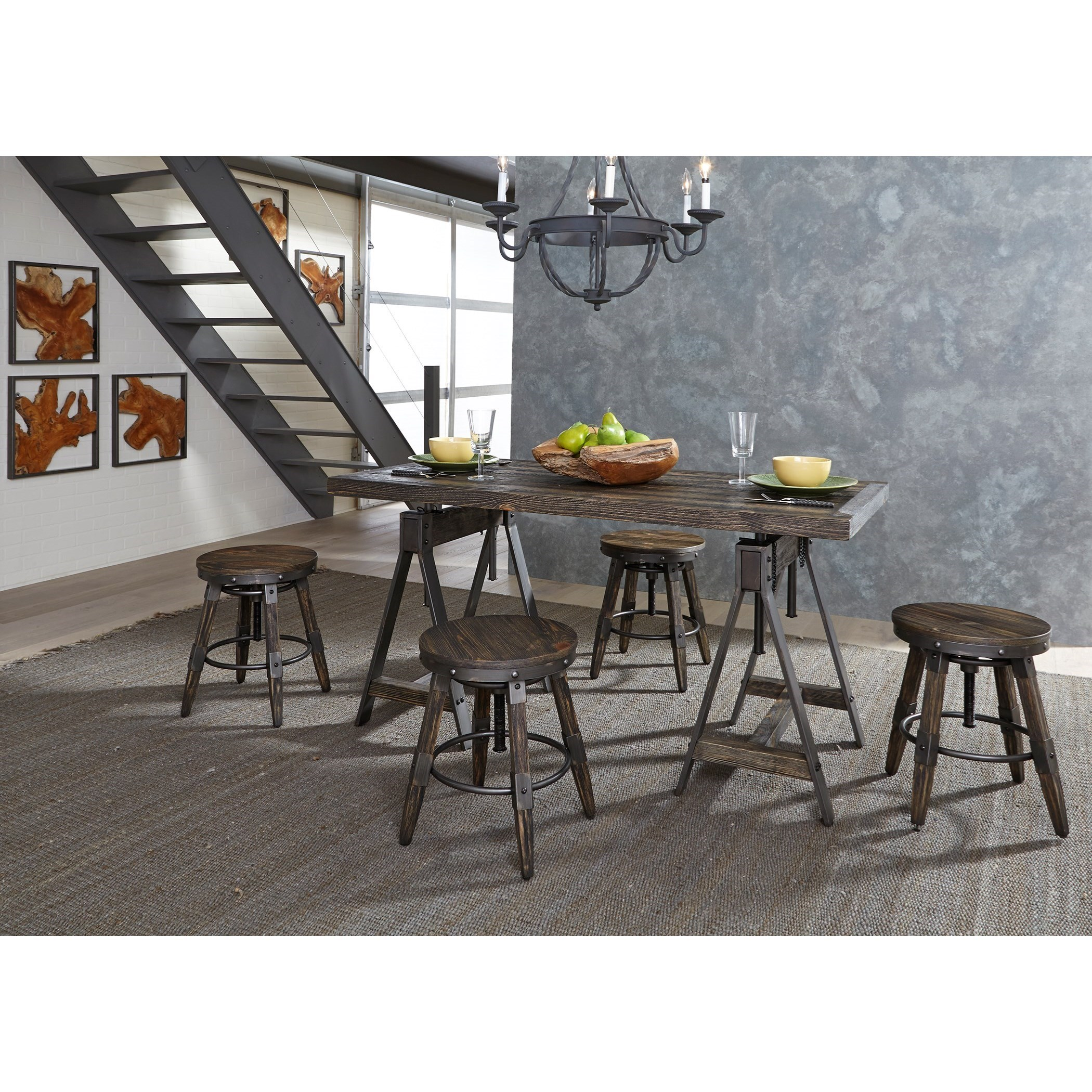 Charmant Liberty Furniture PinevilleAdjustable Height Table And Stool Set