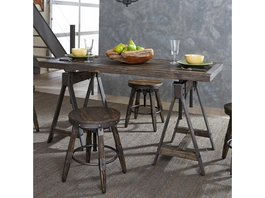 Liberty furniture pineville industrial adjustable height rectangular liberty furniture pinevilleadjustable height rectangular table workwithnaturefo