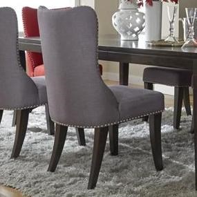 Liberty Furniture Platinum Contemporary Side Chair With Nailhead Trim