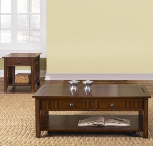 Liberty Furniture Prairie Hills Three-Piece Occasional Table Set