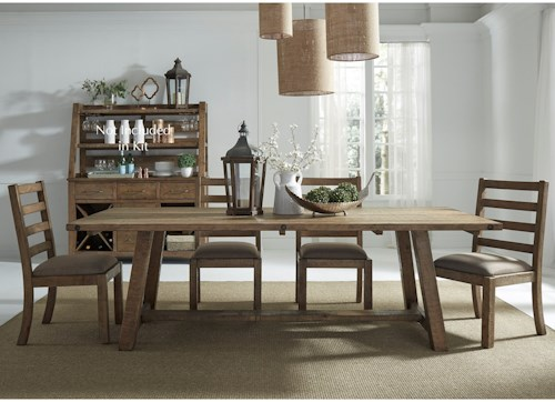 Liberty Furniture Prescott Valley Dining 5 Piece Table Chair Set