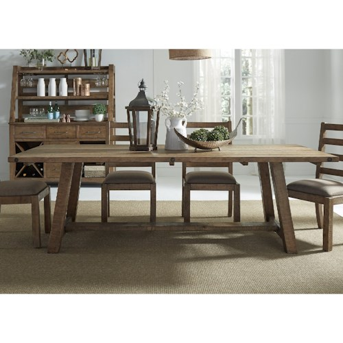 Liberty Furniture Prescott Valley Dining Rustic Dining Table ...