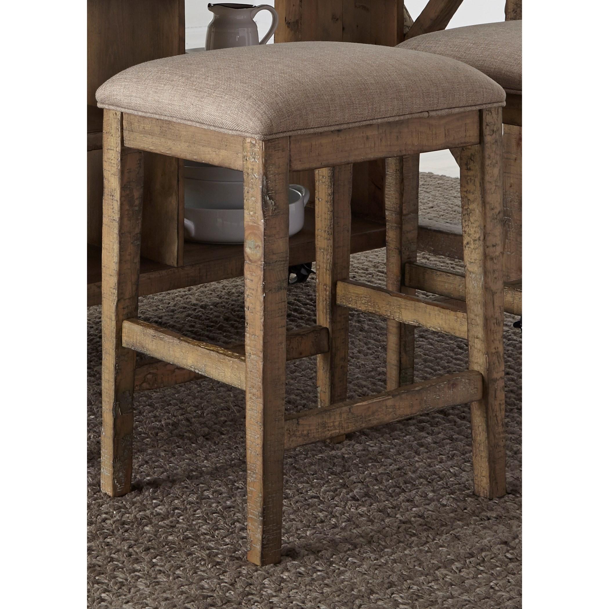 Liberty Furniture Prescott Valley Rustic Upholstered Barstool